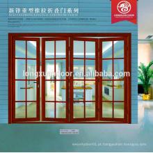 Últimos projetos de portas e janelas dobráveis de vidro de alumínio