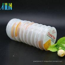 Corde en cristal élastique extensible claire blanche de ténacité élevée pour le bracelet avec beaucoup de taille dans le stock en bloc, ZYL0013