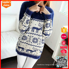 2017 New fashion reindeer patterns custom made christmas sweater ugly