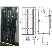 18V 36V 145W 150W 155W 160W monokristallines Solarmodul PV-Modul von der ISO-Fabrik