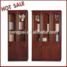 glass door filing cabinet/ bookcase with lockers