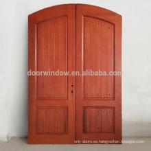 Puertas americanas Nuevo diseño de teca de roble Tapa de madera redonda Madera maciza arqueada puertas antiguas antiguas talladas