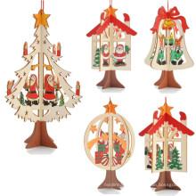 nouveau design extérieur bois senti yiwu fournitures décoration de sapin de noël
