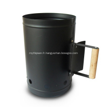 Démarreur de cheminée peinture noire