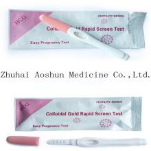 Colloidal Gold Rapid Screen Test HCG Preganncy Test