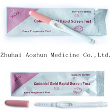 Colloidal Gold Rapid Screen Test HCG Preganncy Test