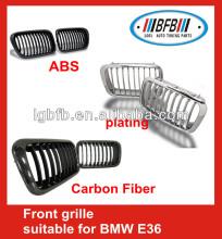 1992-1998 carbon fiber/abs/chrome front grille for BMW E36 car front grille