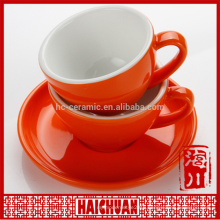 220cc color glaze of cup and saucer