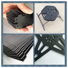 100% Carbon Fiber Custom CNC Quasi-isotropic 3K carbon fiber Cutting Racing Parts