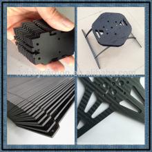Peças de competência de corte quase-isotrópicas da fibra do carbono do CNC do costume do CNC da fibra do carbono de 100%