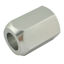 Hex Aluminum Coupler Nut, CNC Turning Part by Ace