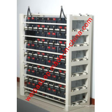 Батареи Стальная рама Батарейная стойка Зарядная стойка Таможенная служба Стойки для сборки батарей