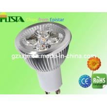 Super brillante energía ahorrada Epistar cálido blanco LED GU10 bombillas