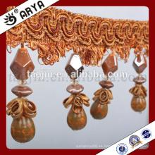 Mariposa de diseño de cortina y granos de cuentas de calabazas para hogar textil o lámpara de mesa