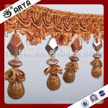 Design en rideau papillons et gourdes perles frange pour maison textile ou lampe de table