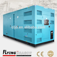 800kw soundproof canopy generator mobile trailer super silent power plant with cummins diesel engine