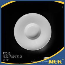 Novos produtos porcelana cerâmica placas redondas para restaurante