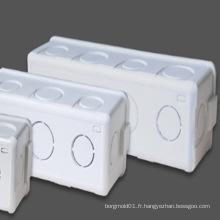 Moule de boîte de jonction électrique en plastique fait sur commande de PVC d'OEM de Taizhou huangyan avec la bonne qualité