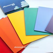 Garantia de 20 anos 3mm / 4mm Alunewall FEVE painel composto de alumínio de cor brilhante facorty venda direta
