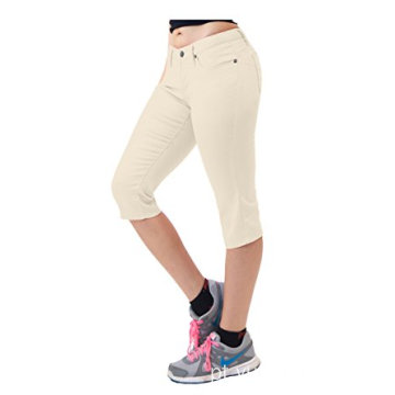 Calça Jeans Feminina Super Comfy Stretch Denim Capri