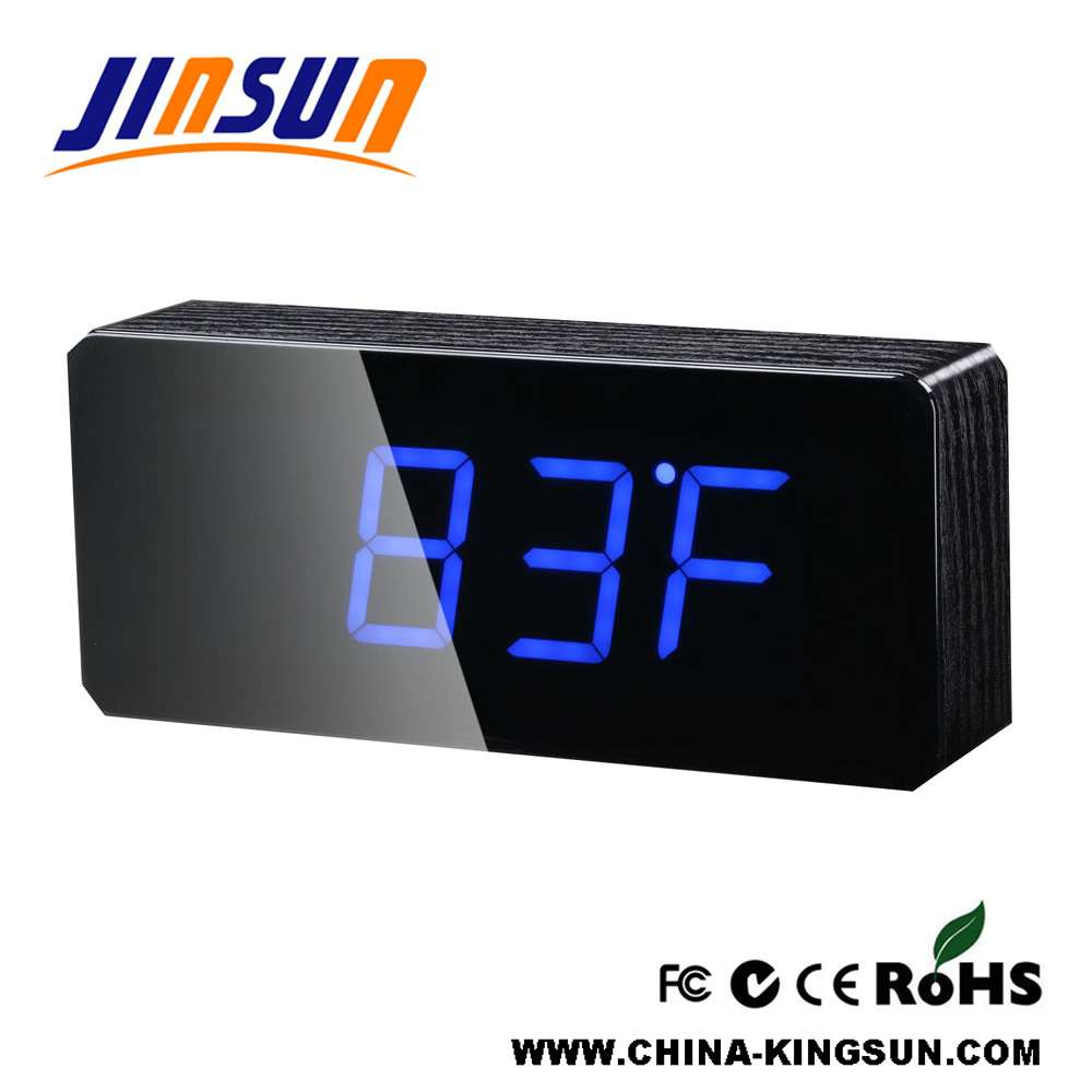 Wood Digital Led Clock For Table