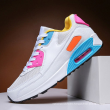 Large size casual sports running shoes spring men's mesh breathable couple Air cushion running shoes