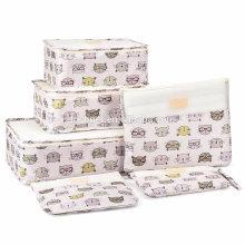 Водонепроницаемая сумка для хранения багажа для путешествий Прочная упаковка Компрессионные мешочки 3 дорожных кубика + 3 мешочка