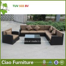 Sofa gris et noir de salon dans des meubles de jardin à la maison (CF1025)
