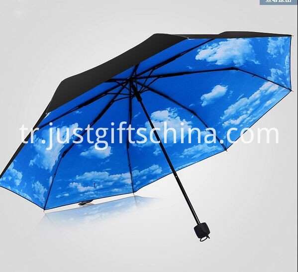 Promotional Full Printed Triple Folding Umbrella2