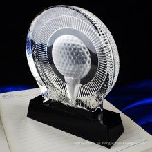 Durable de alta calidad con varios trofeos de cristal de ping-pong baratos