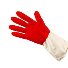 zweifarbiger hitzebeständiger Reinigungs-Haushalts-Latexhandschuh