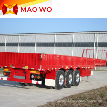 Remolque de camión de pared lateral de carga de 60 toneladas de alta calidad