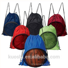 sac de sport en nylon avec cordon de serrage