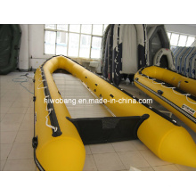 CE 6 Meters Big Hugeyellow Inflatable Fishing Boat for Fun