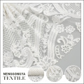 New bridal classical style white mesh cord embroidery lace design