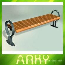 Hochwertiger hölzerner Garten-langer Stuhl