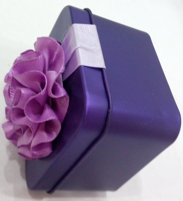 Purple Colour Festive Tin