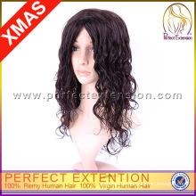 Langes Haar-lockige Perücken der Lace Machine Long Length 100%