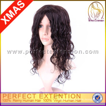 Lace Machine Long Length 100% Human Hair Curly Wigs