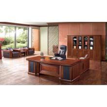 Escritorio ejecutivo de lujo de la oficina de madera dura para la compañía de gama alta usada