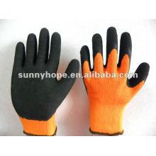 Gants revêtus de gomme moulée en latex doublé à lame thermique 10G