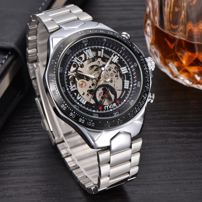 luxury brand famous logos mechanical men watch