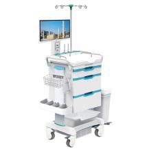 Estación de trabajo de enfermería móvil Tianao Hospital Light, 3 gavetas, ABS