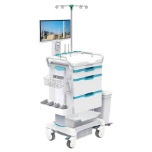 Tianao Hospital Light 3-Drawer ABS Mobile Nurse Workstation