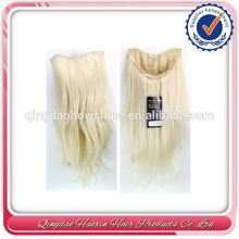 Qingdao Hair Factory Wholesale Tangle Free India Remy Virgin Hair Kinky Straight Half Wig