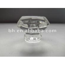 Decorativas luz de forma de cristal cortina tubo finial cristal finial cortina haste extremidades