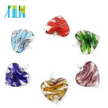 MC0024 Colgantes de vidrio de cristal de murano de colores para la pieza de collar Colgantes de joyería de moda de Hong Kong