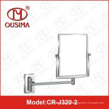 Espejo de maquillaje de baño cuadrado de pared Espejo de maquillaje de espejo fot