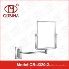 Espelho de maquiagem quadrado de banheiro com espelho de maquiagem