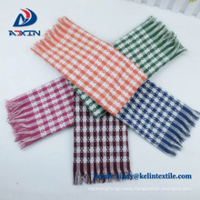 Plain dyed made in China 100% organic cotton striped line tea towels